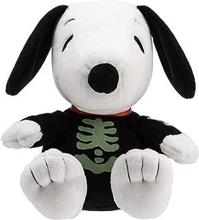Hallmark Snoopy Stuffed Animal in A Glow in The Dark Skeleton Halloween Costume