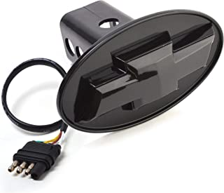 Bosswell CHEVROLET CHEVY Hitch Cover - Licensed LED Light Trailer Towing Hitch Cover Receiver Black 6530