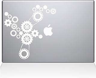 "The Decal Guru Steampunk Gears Macbook Decal Vinyl Sticker  - 13"" Macbook Pro (2016 & newer) - White (1184-MAC-13X-W)"