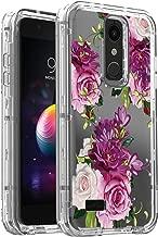 AMPURSQ Case for LG K30 X410/LG Premier Pro LTE L413DL/LG Phoenix Plus/LG Harmony 2/LG Xpression Plus, Hybrid TPU Bumper and Floral PC Hard Clear Protective Armor Phone Cover (Color Floral)