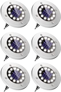 جلوكلوز الشمسية الأرضية ضوء 12 LED مقاوم للماء في الهواء الطلق أضواء ديكور بيضاء طريق المناظر الطبيعية إضاءة أرضية الظلام ...