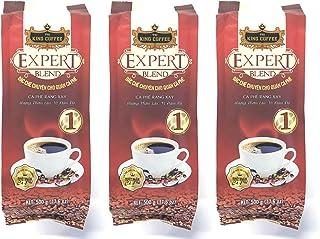 KING COFFEE ベトナムコーヒー エキスパートブレンド 1 (アラビカ豆15%使用のフレーバーコーヒー) 500g (3袋セット)