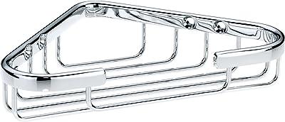 Kela ケラ 浴室用ラック ステンレス サイズ:17.5×13.5×H3.5cm コーナー バスケット Brass 21915