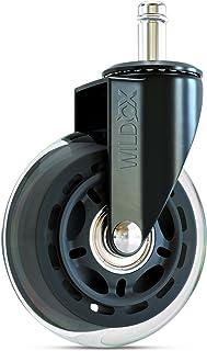 WILD OX Ruedas para Sillas de Oficina | ruedas silla oficina - Silenciosa y muy fluida (Vástago: 11x22mm)