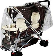 ZUQ Protector de Lluvia para Silla de Paseo Transparente Cubierta de Lluvia Universal para Cochecito, Protector Impermeable para Carrito de Bebé Talla única