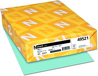 Wausau Exact Index Cardstock, 110 lb, 8.5 x 11 Inches, Pastel Blue, 250 Sheets (49521)