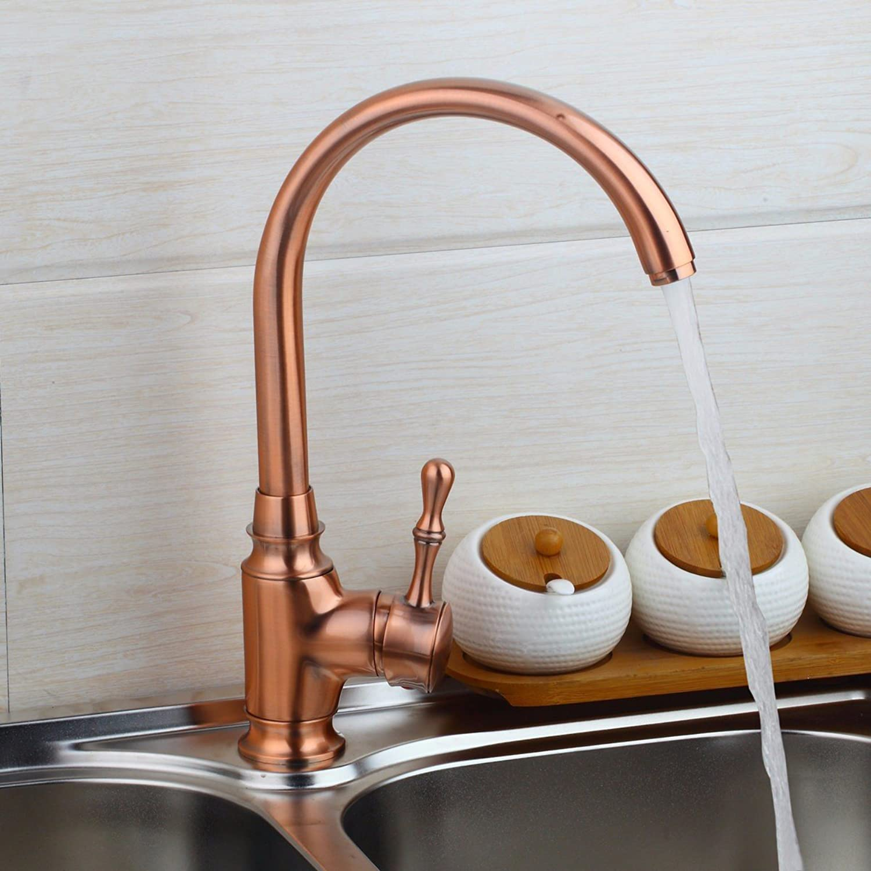 TS-nslixuan Kitchen Sink Taps Tap-Sink Tap Basin Mixer Tap Revolving Full Copper Taps