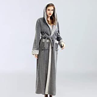 Pijamas Mujer Camisón Camisón De Mujer con Capucha Otoño E Invierno Ropa De Dormir De La Mañana Bata Conjunto De Pijama Largo para Mujer Señoras Mujer Mujer