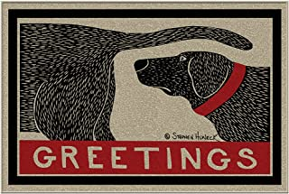 Dpnamron Humorous Dog Sniffing Welcome Doormat Offers Unique Greeting to Your Guests