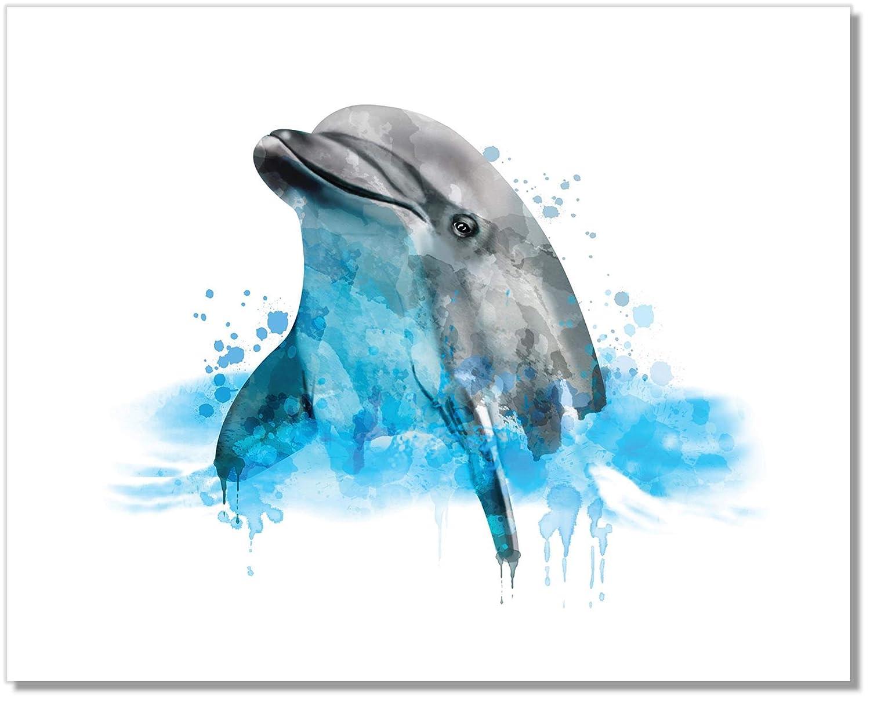 Japan's largest assortment Dolphin Art Print - Ocean Wall 11x14 Popular standard Decor – W Unframed