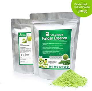 Standardized Plant Extract Vanilla of the East, Natural Asian Gourmet Beverage Ingredient, Natural Flavor, Natural Color Chlorophyll of Pandan Leaf Extract Powder (300g)
