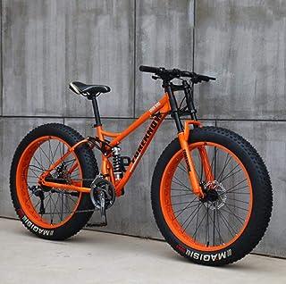 メンズマウンテンバイク26インチ フルサスペンションマウンテンバイク自転車、 ソフトテールデュアルサスペンションファットタイヤバイク ダブルディスクブレーキ、 ビーチ雪全地形MTB