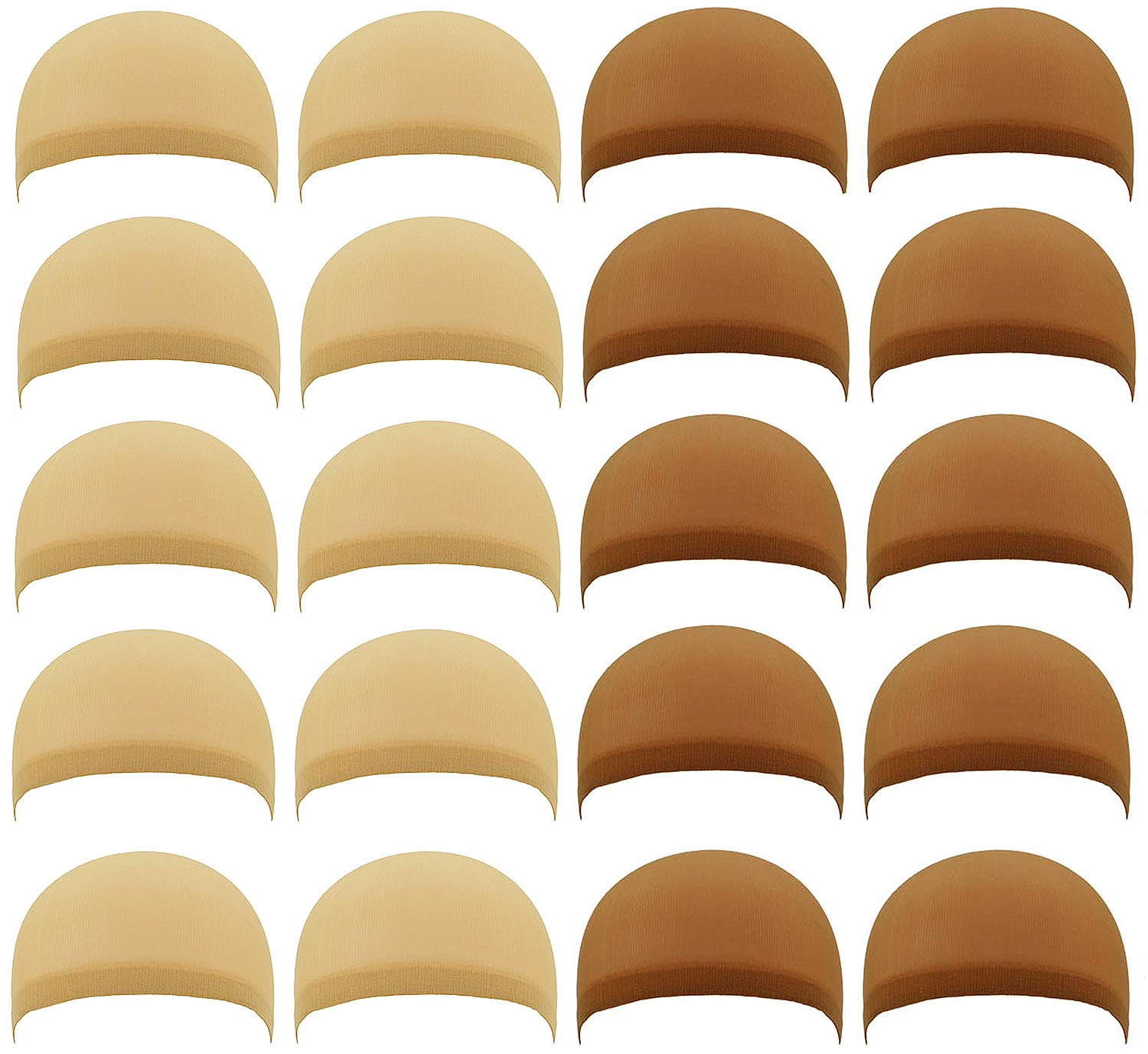 20 PCS Nylon Stretchy Material Our shop most popular Wig PAFOWO All items in the store Caps B Natural 10