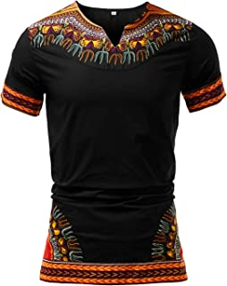 HongyuAmy Mens African Print Shirt Dashiki Traditional T-Shirts Dashiki Clothing