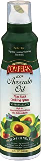 Pompeian 100% Avocado Oil Cooking Spray, Mildly Nutty Flavor, Perfect for High-Heat Cooking, Roasting and Stir-Frying, Naturally Gluten Free, Non-Allergenic, Non-GMO, No Propellant, 5 FL. OZ.