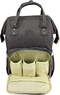 House of Quirk Baby Diaper Bag Maternity Backpack (Dark Grey)