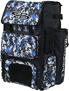 Boombah Superpack Bat Pack -Backpack Version (no Wheels) - Holds 2 Bats - Camo Series - 20 Color Options - for Baseball or Softball