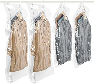 TAILI Hanging Vacuum Space Saver Bags for Clothes, Set of 4 (2 Long 53