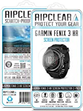 Ripclear Compatible with Garmin Fenix 3 HR/Fenix 3 Smartwatch Screen Protector Kit - Scratch-Resistant, All-Weather Protection, Crystal Clear - 2-Pack