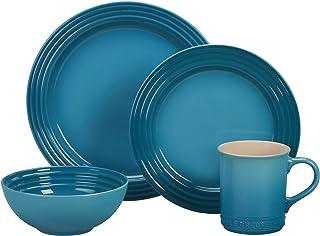 Le Creuset PGWSV16-0317 Stoneware Dinnerware Set, 16 Piece, Caribbean