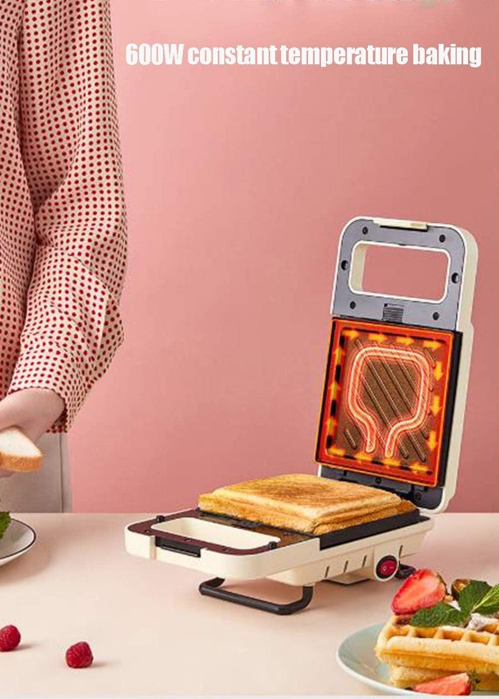 SYZD Gaufrier Electrique Grill Gaufrier Et Sandwich Grande Puissance Plaques à RevêTement AntiadhéSif Easy Clean Et ContrôLe Plaques RemplaçAbles Green White