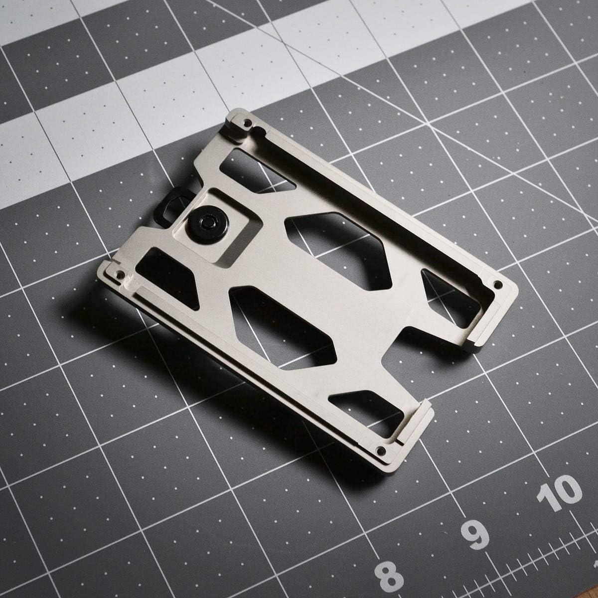 Zeeker Porte-cartes en m/étal avec clip en aluminium pour cartes et argent