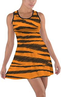 Tigger Stripes Winnie The Pooh Inspired Cotton Racerback Dress