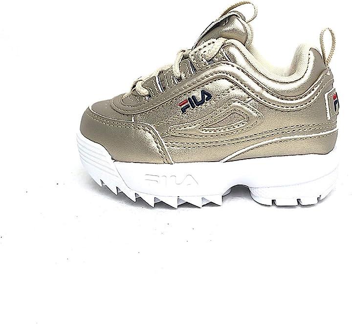scarpe bimba fila scarpe 1011077 color oro 26 1011077-80c-26