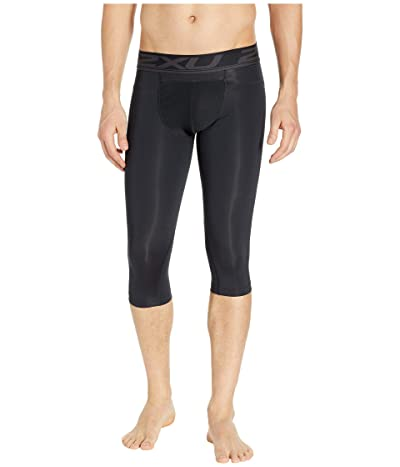 2XU Accelerate Compression Layering 3/4 Tights (Black/Silver) Men