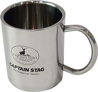 キャプテンスタッグ(CAPTAIN STAG) キャンプ用 コップ ダブル ステンレス マグカップ パラオ