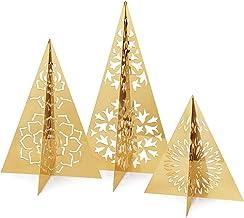 Georg Jensen Holiday Gold Ice Flower Table Tree Set, Set of 3