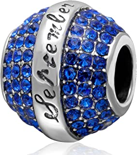 ZIYOU 925 Sterling Silver Birthstone Charms Suit Pandora Bracelet Happy Birthday September Bead Elegant Fit for European Most Bracelets