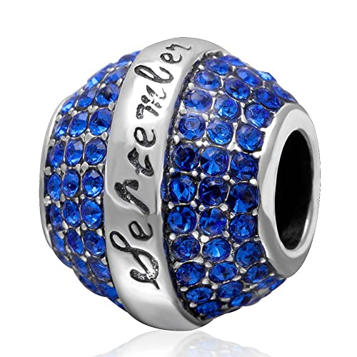964332d8a Birthstone Crystal Charm Authentic 925 Sterling Silver Spacer Bead Charm for  Ladys Bracelet Necklace