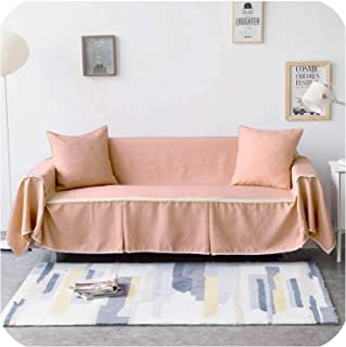 Grey Solid Color Sofa Towel Sofa Cover Set Elastic Sofa Slipcovers Sofa Covers for Living Room Pets Couch Cover Loveseat 1Piece,Color 18,4-Seater 210 X 350cm