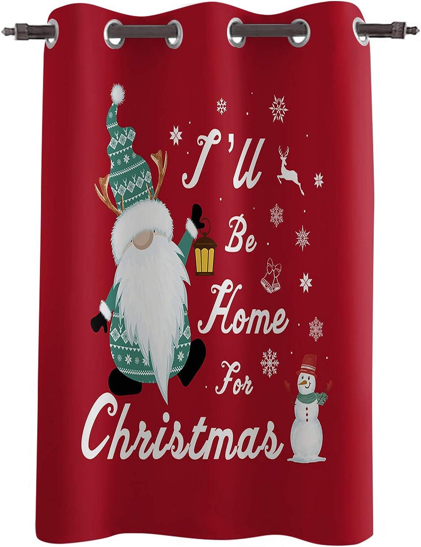 Christmas Elf Max 52% OFF Snowman Window 52x96inch 5 ☆ popular Treatments Panel