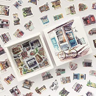 Doraking 200PCS Middle Size Vintage Street Scene Cottage Theme Scrapbook Washi Stickers for Scrapbooking Diary Decoration ...