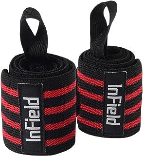 InField リストラップ ウエイトトレーニング サポーター 手首 固定2枚組 リストバンド筋トレ 3カラー