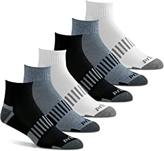 Prince Men's Athletic Quarter Socks for Sports, Running, Tennis, and Casual Use (6 Pair Pack)