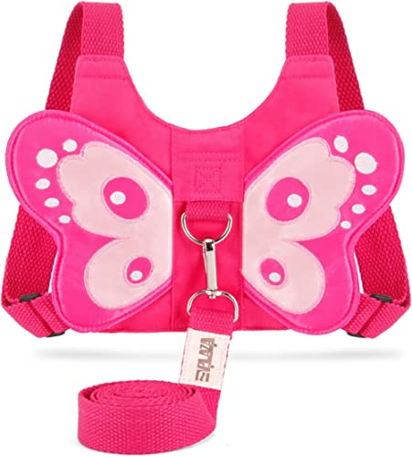 EPLAZA Toddler Walking Safety Harnesses with Leashes Cute Butterfly Anti Lost Wrist Leash for 1.5-3 Years Kid Girls B...
