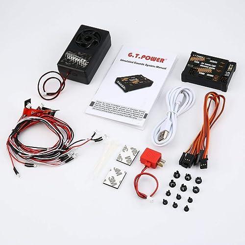 EdBerk74 RC Module Jouet Voiture Sons   Lumière Simulé Système pour Niveleuse Voiture SUV Télécomhommede Camion Véhicule DIY Parcravate