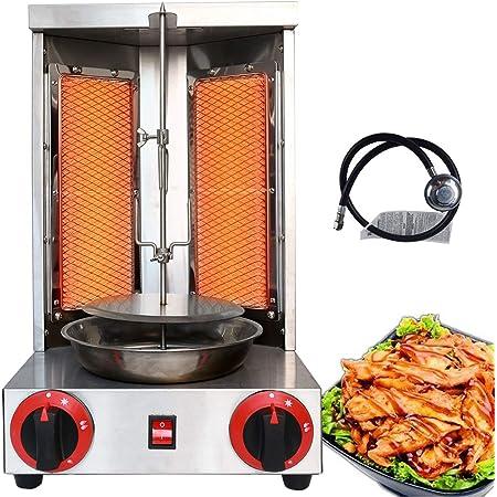 Doner Kebab Gyro Grill Machine Gas Vertical Broiler Shawarma Machine Spinnin
