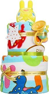 ロディ Rody 出産祝い 2段 バスタオル おむつケーキ パンパース テープタイプ S 女の子 男の子 男女兼用