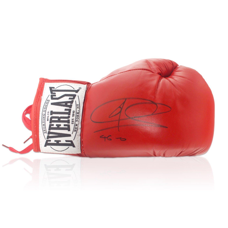 Joe Calzaghe Firmado Red Everlast Guantes de Boxeo: 46-0. En caja de regalo: Amazon.es: Deportes y aire libre