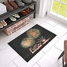 Fireworks Rocket Night Sky Sylvester Unique Debora Custom Bathroom Accessories Non-Slip Bath Mat Rug Bath Doormat Floor Ru...