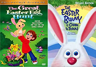 Jump In Celebrate Spring 2-Movie Bundle - The Great Easter egg Hunt + The Easter Bunny is Comin' To Town Deluxe Edition Stop Motion Gallery Express Holiday Bundle 2 Pack