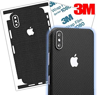 Black Matrix iPhone Skin wrap Made with 3M 1080 Vinyl Series Protective Thin Film Cover Around Edges for iPhone 7, 7 Plus, 8, 8 Plus, X, Xs, XR, Xs Max (iPhone 8)