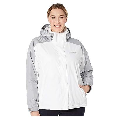 Columbia Plus Size Gotcha Groovintm Jacket (White Emboss/Columbia Grey Emboss 1) Women