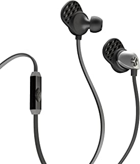 JLAB Epic-BLKGRY-Box JLab Audio Epic Earbuds with Massive 13mm C3 Drivers, Easy-to-Use Track Control, Customizable Cush Fins & Guaranteed for Life - Black/Gray