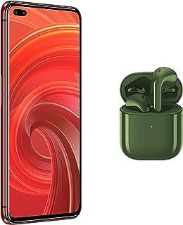 ريلمي X50 برو، شريحتين اتصال، 256 جيجا، 12 جيجا رام، 5G، احمر راد+اير بودز ريلمي