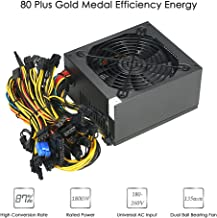 Power Supply, KKmoon 1800W Switching Server Power Supply 87% High Efficiency Professional Mining Machine Power Source for Ethereum S9 S7 L3 Rig Mining Bitcoin 180-260V